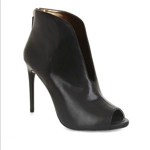 BCBG peep toe ankle boot